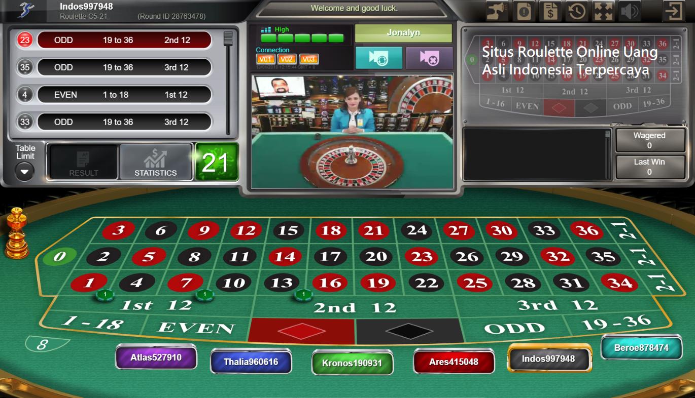 Situs Roulette Online Uang Asli Indonesia Terpercaya